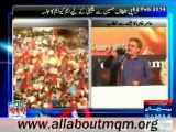 Amir Khan speech on MQM rally to express solidarity with MQM Quaid Altaf Hussain at New M. A. Jinnah Road in Karachi