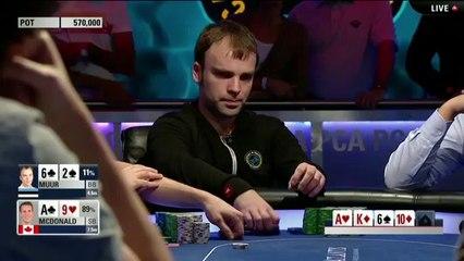 Torneo de poker en vivo de la PCA de 2014 - Evento Principal de la PCA, mesa Final