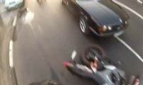The luckiest motorcycle crashes and accidents ever filmed!!