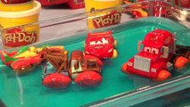 Play Doh Pixar Cars Lightning McQueen, Hydro Wheels Mater, we use Play Doh to make Hydro Wheels Mate