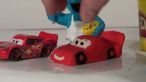 Play Doh Lightning McQueen made from Play Doh by the Cookie Monster Chef  lol  nice job !!
