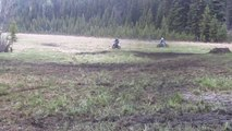 Dirt Bike Mud Fight 2012! Rm 250 vs Rm 144 vs Rm 125 vs Yz 125  PART 2