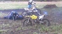 Dirt Bike Mud Fight 2012! Rm 250 vs Rm 144 vs Rm 125 vs Yz 125 PART 3