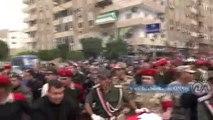 """أهالي بورسعيد يشيعون جنازة شهيد """"مروحية سيناء"""" في جنازة عسكرية"""