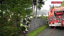 Quiberon.  Intervention des pompiers