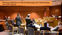 anti SLAPP Hearing Monique Rathbun v David Miscavige and Scientology 3 Feb 2014 1 minute version
