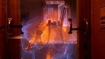 Fuite de gaz et explosion d'une cuisine en slow motion