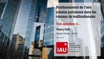 Positionnement de l'aire urbaine parisienne dans les réseaux de multinationales