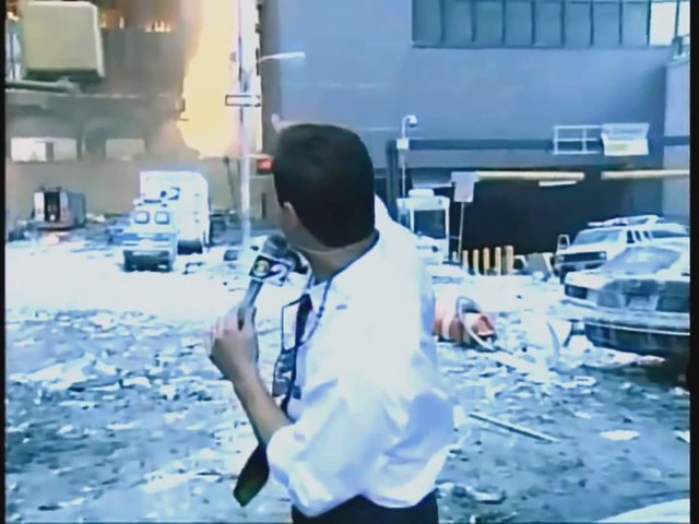9/11 News footage that didn't air on TV (WTC Building 7)