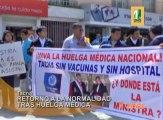 Ttras la suspensión de la huelga nacional indefinida acatada por los médicos del Minsa, retorna la tranquilidad a los centros hospitalarios.
