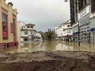 Inondation dans la ville de Dax