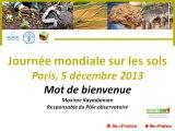 1ere journée mondiale des sols : Introduction de Maxime Kayadjanian