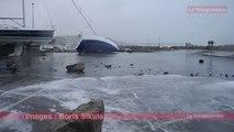 Crozon (29). Le port de Morgat touché par la tempête