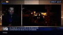 Le Soir BFM: Le toit d'un magasin Carrefour s'écroule à Nice - 05/02 1/5