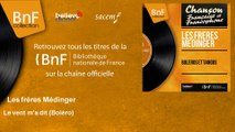 Les Frères Médinger - Le vent m'a dit - Boléro - feat. Paul Sams