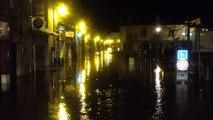 Le centre-ville de Quimper inondé