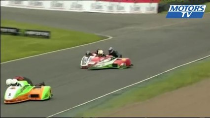 Big crash in 2013 British F1 Sidecar at Knockhill