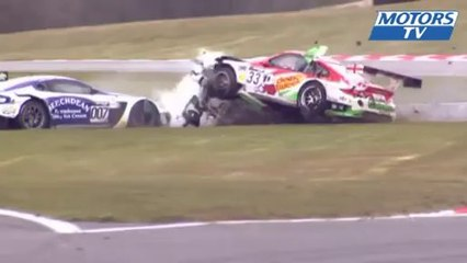 2013 British GT Rockingham Crash