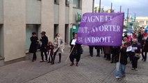 Manifestation pour défendre le droit a l'avortement