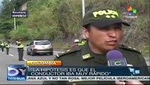 Accidente de autobús en Colombia, hay 7 muertos