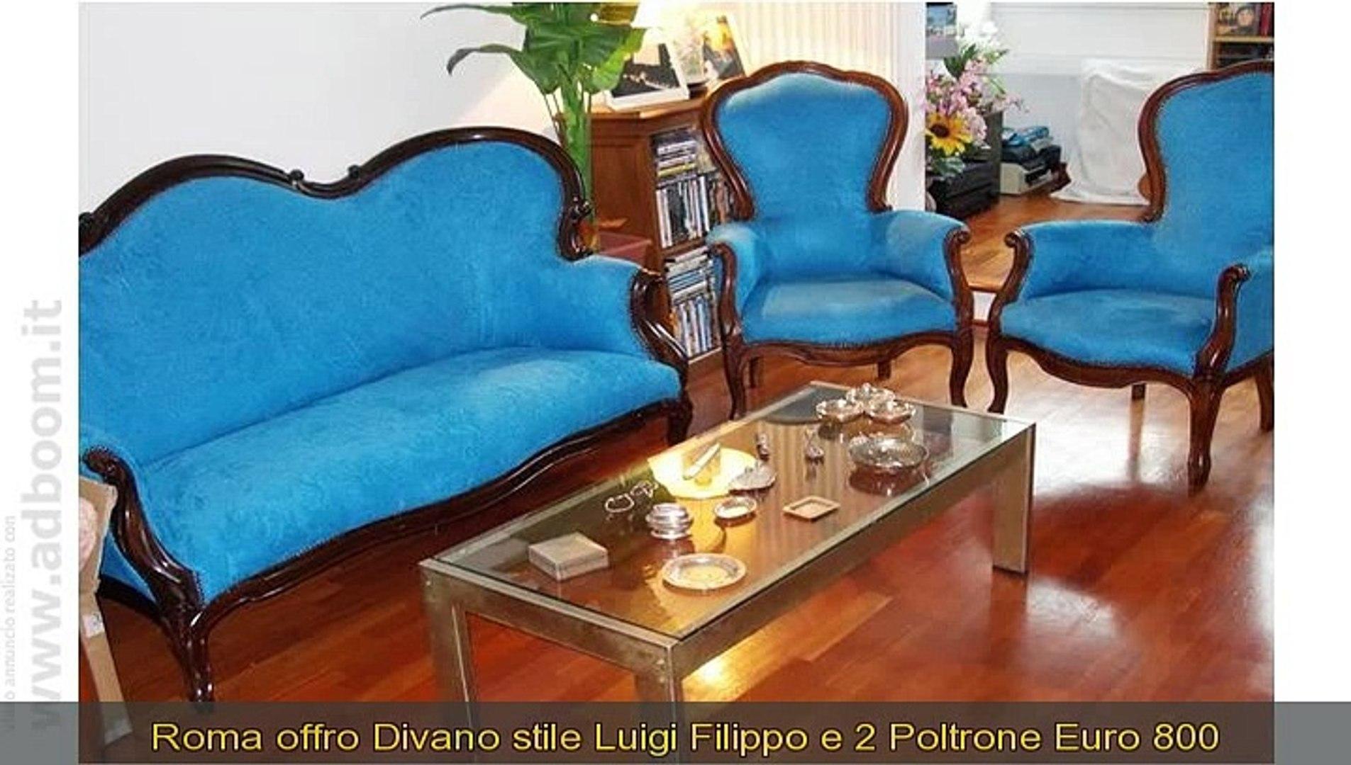 Divano E Poltrone Luigi Filippo roma, divano stile luigi filippo e 2 poltrone euro 800