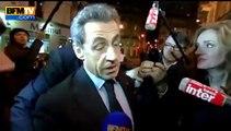 """Nicolas Sarkozy présent au meeting de NKM """"par amitié"""" - 10/02"""