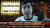 West Virginia Cavaliers vs. Iowa St Cyclones Pick Prediction NCAA College Basketball Odds Preview 2-10-2014
