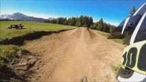 Mountain Bike Crash On Dirt Jump - Morzine Bike Track