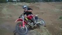 Back Yard Dirt Bike Track Action - 1996 CR125R