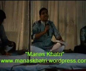 Hasya Poet Manas Khatri At Maisanik Lodge, Faizabad