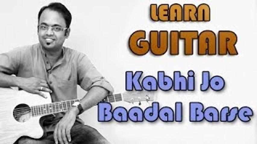 Kabhi Jo Baadal Barse Guitar Lesson - Jackpot - Arijit Singh