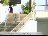 Skateboarding video - ollie 55 stairs