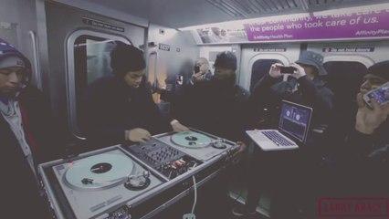 TJ Mizell, le fils de Jam Master Jay dans le métro newyorkais