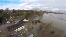 Aerial Footage Shows Extent of River Thames Flooding