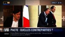 """Le Soir BFM: Pacte de responsabilité: Pierre Gattaz ne veut pas de """"contreparties"""" - 11/02 3/4"""