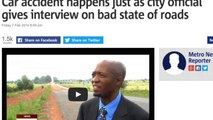 Car Crash Occurs During Interview With Public Safety Authority