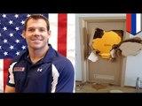 US bobsledder Johnny Quinn breaks down door after getting trapped in bathroom in Sochi
