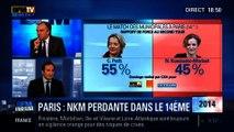 BFM Story: Match des municipales à Paris: Nathalie Kosciusko-Morizet a été battue dans le XIVe arrondissement - 12/02