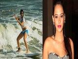 Hazel Keech Surfing In Shorts | Latest Bollywood Gossips