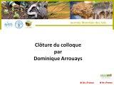 1ere journée mondiale des sols : Cloture de la journée par Dominique Arrouays
