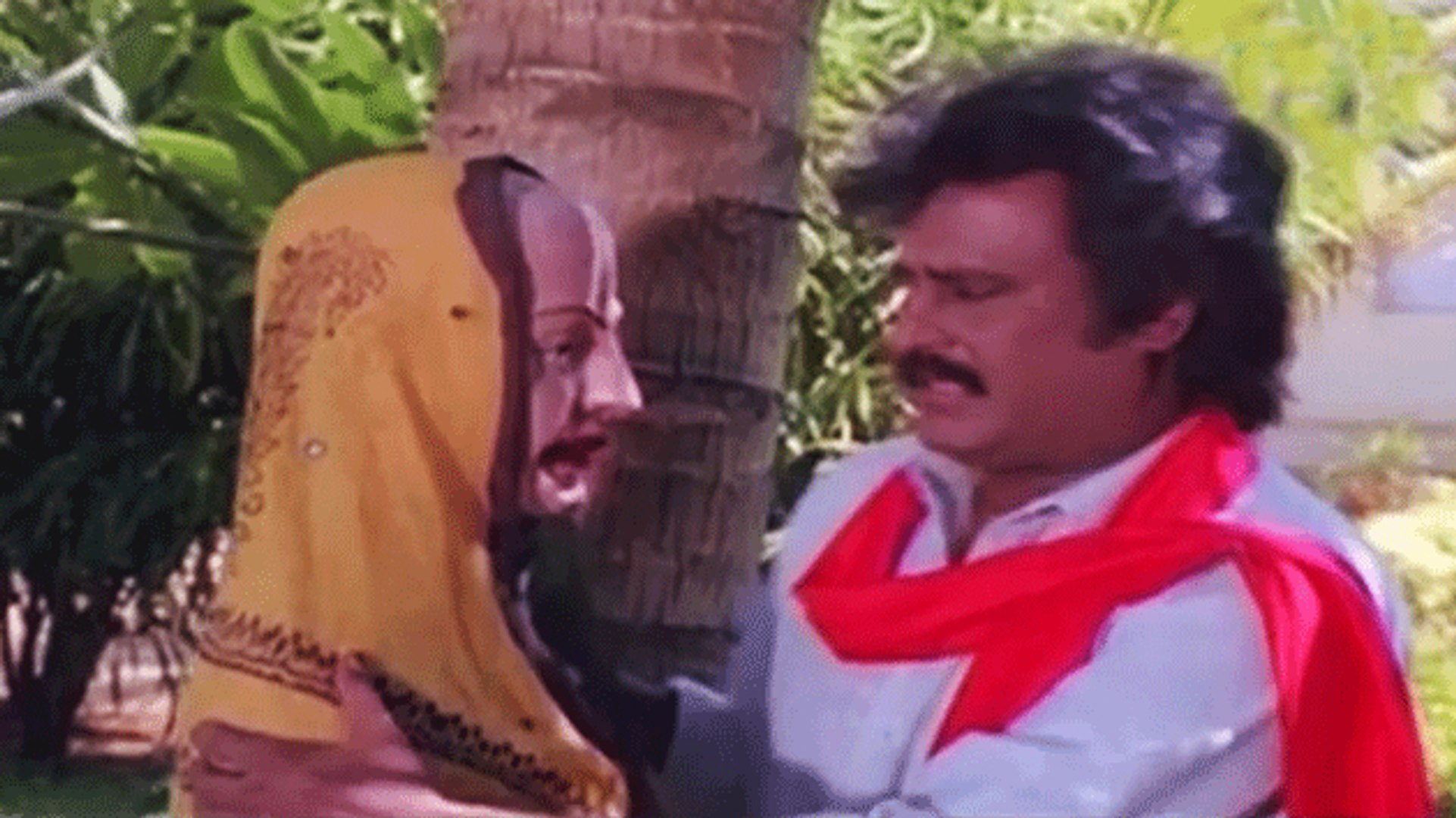 Rajnikanth & Gouthami Romantic Scene | Guru Sishyan | Tamil Film