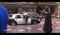 Car jacking on a cop car in Hollywood - Crazy thief...