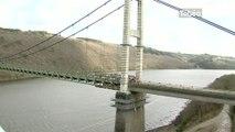 Zoom sur le chantier de démolition du Pont de Térénez