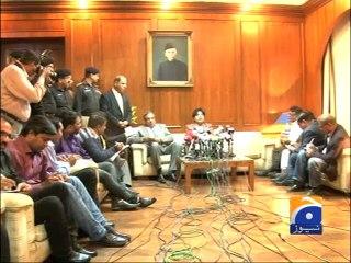 Ch Nisar says that Terror activities may hamper dialogue process