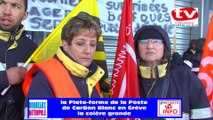 TV Bordeaux 33 la colère gronde chez les facteurs factrices de la plate-forme du courrier de CARBON  BLANC en Grève