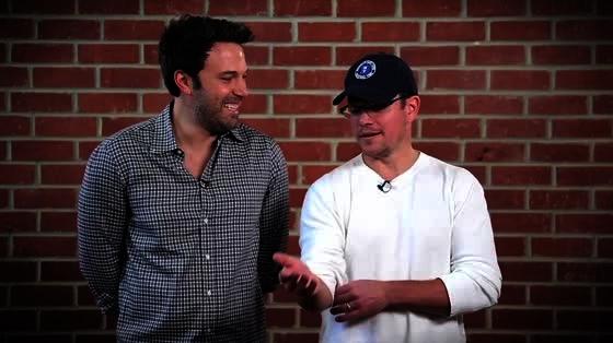Ben Affleck and Matt Damon Bust Each Other's Chops For Charity
