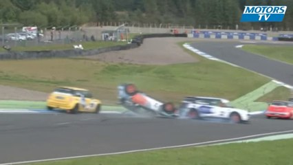 2012 Mini Challenge Knockhill Crash