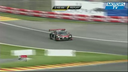 2012 24 Hours of Spa Blancpain Endurance Series Big Crash