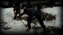 Snow piled high creates hazards along East Coast