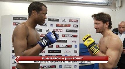 100%FIGHT 18 - VIP : La pesée